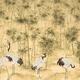 Roomset - Bamboo and Cranes