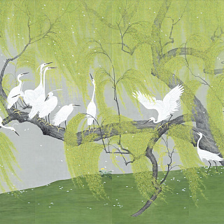 Herons and Willows